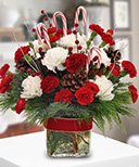 Candy Cane Celebration Floral Bouquet