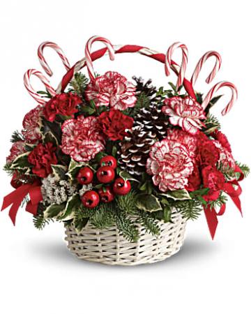Candy Cane Christmas Basket