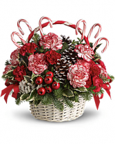 Candy Cane Christmas Basket Christmas arrangement