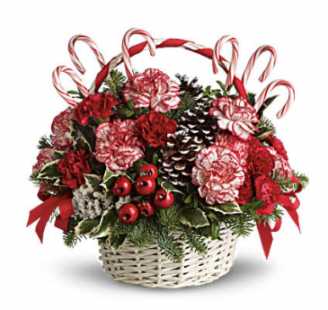 Candy Cane Christmas Christmas themed basket