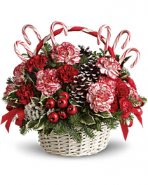 Candy Cane Christmas Holiday Arrangement