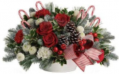 Candy Cane Christmas Table Arrangement..Bows May Be Slightly Different