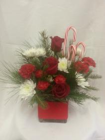 Candy Cane Christmas Vase