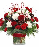 Candy Cane Christmas Vase Arrangmet