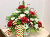 Candy Cane Lane Table arrangement