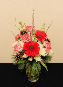 Candy Cane Lane Vase Arrangement