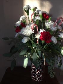 Candy cane vase Vase arrangments