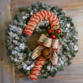 Candy Cane Wreath! Artificial Christmas Wreath
