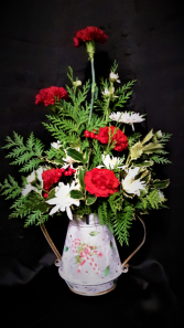 Candy canes aglow metal candy cane fresh arrangement
