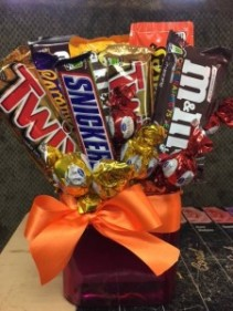 candy/ chocolate bouquet