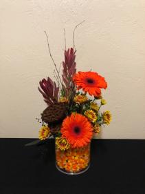Candy Corn Fields Keepsake Picture Frame Vase