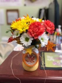 Candy Corn Mason Jar  Custom Arrangement