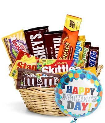 Candy Lovers Snack Basket and Balloon   FH51 Snack Basket and Balloon