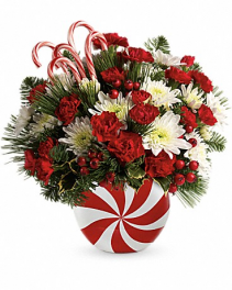 Candy-Striped Christmas  Bouquet
