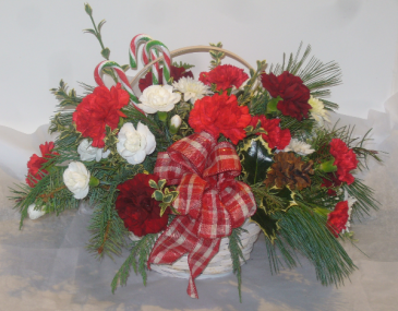 CANDY CANE BASKET Christmas Arrangement