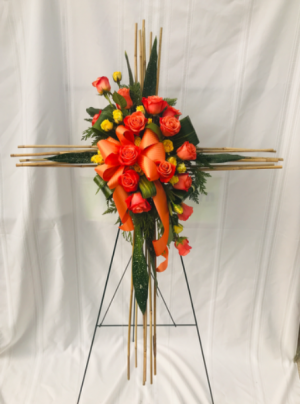 Cane Cross Standing Spray  in Coleman, WI | COLEMAN FLORAL & GREENHOUSES