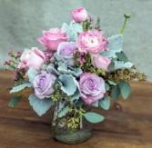 Canning Jar - So Charming Vased Arrangement Semi-Compact