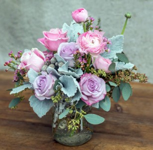 Canning Jar - So Charming Vased Arrangement Semi-Compact
