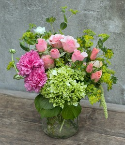 Canning Jar - So Lovely Vased Arrangement Semi-Compact