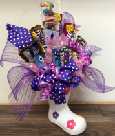 Candy bouquet boot Candy bouquet