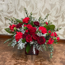 Lady In Red Bouquet