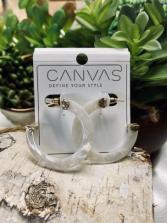 CANVAS Hoop Earrings