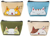 Canvas Kitty Change Purse