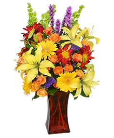 Canyon Sunset Arrangement in Burnaby, BC | PASSION FLORAL BOUTIQUE