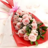 Captivarting Pink Bouquet 12 Stem Roses
