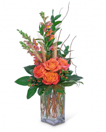 Captivating Coral Flower Arrangement
