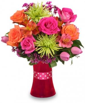 Vibrant Vibes Arrangement in Abernathy, TX | Abell Funeral Homes & Flower Shop