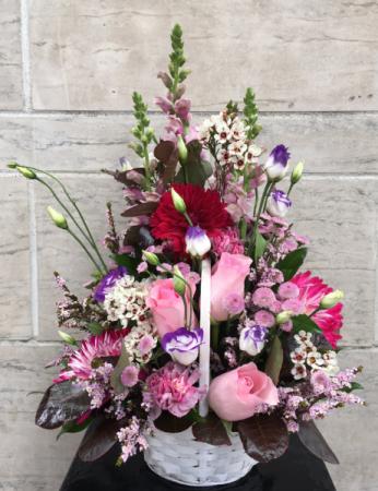 Caramel Confetti Floral basket