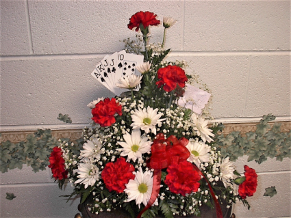 Card club funeral arrangement