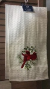 Cardinal Christmas Kitchen Towels