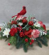 Cardinal Delight centerpiece