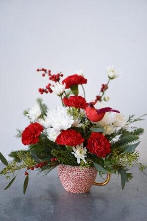 Cardinal in the Snow Mug  in La Grande, OR | FITZGERALD FLOWERS