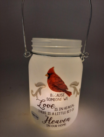Cardinal Jar Memorial Giftware