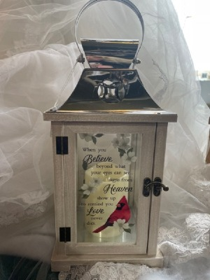 Cardinal Lantern Giftware in Fowlerville, MI | ALETA'S FLOWER SHOP