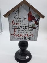 Cardinal Sign Memorial Giftware