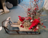 Artificial Cardinal sled