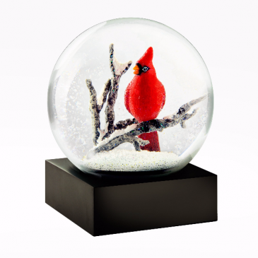 Cardinal Snow Globe Wrapped Gift