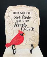 Cardinal Touch Our Lives Garden Stone Garden Stone
