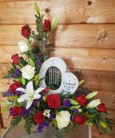 Cardinal Windchime Flowers with a keepsake