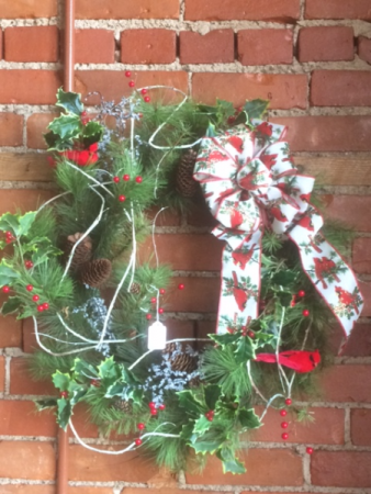 Cardinal wreath holiday