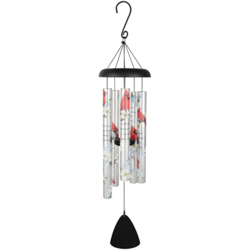 "Cardinals Appear 36"" Picture Wind Chime Powell Florist Exclusive"
