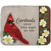 Cardinals Appear when Angels are Near Memorial Stone Plaque