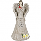 Cardinals Appear when Angels are Near Statue of Angel 14""