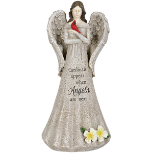 "Cardinals Appear when Angels are Near Statue of Angel 14"" in Plum, PA 