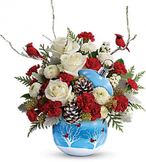 Cardinals in the Snow  in Chesapeake, VA | Floral Creations