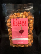 Carmel Corn with Chocolate Drizzle Valentine Candy